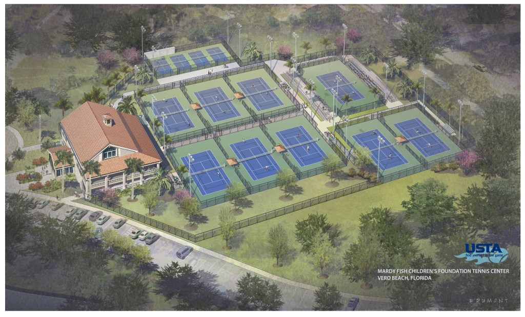 Riverside Park Tennis Court Refurbishment Plan In Vero Beach, Florida