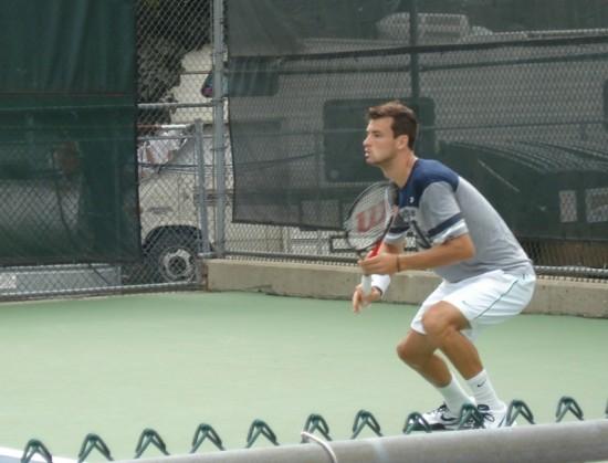 Grigor Dimitrov Cincinnati Open Sunday practice pictures photos images