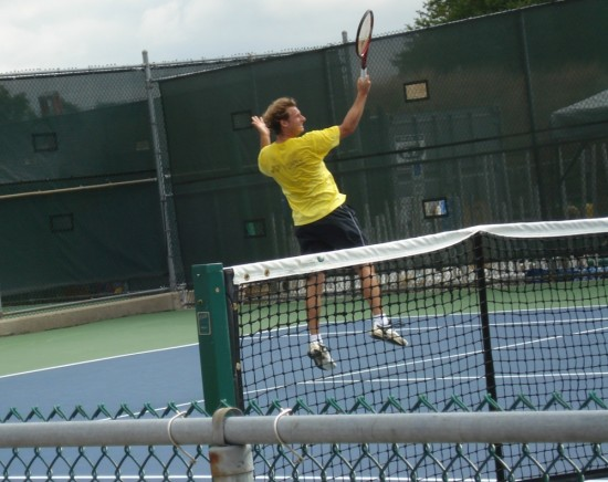 Sunday practice Western and Southern Open Cincinnati David Nalbandian leap pictures images photos