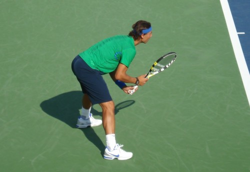 Rafael Nadal doubles return Cincinnati Open Tuesday photos pics images 2011