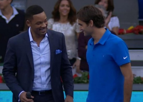 Will Smith Roger Federer Madrid 2012 tennis final photos Men in Black pictures screencaps