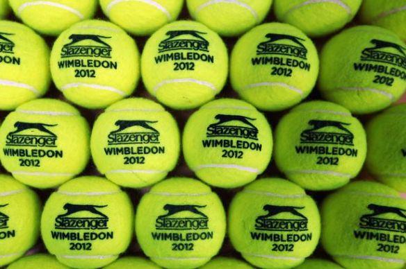 Wimbledon 2012 tennis balls Slazenger pictures photos images