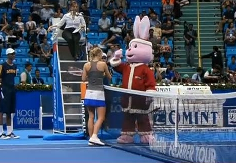 Caroline Caro Wozniacki Woz Santa bunny Federer tour South American Brazil photos pictures video