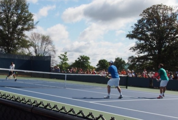 Stanislas Wawrinka Cincinnati Open Sev Luthi Roger Federer practice court pictures photos images