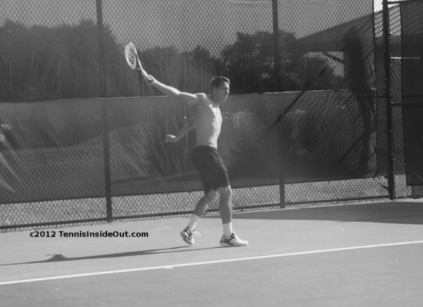 Philipp Kohlschreiber one-handed backhand graceful shirtless black and white photo images pictures Cincinnati by Valerie David