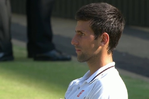 Novak Djokovic Nole stoic sad after loss Wimbledon 2013 photos