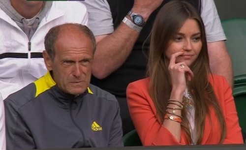 Anfisa Bulgakova Sergiy Stakhovsky wife players box pictures images photos Wimbledon 2013