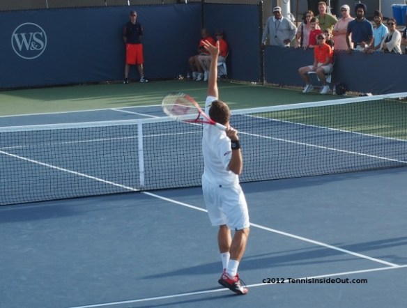 Philipp Kohlschreiber smash practice doubles warm-up Cincinnati Masters photos