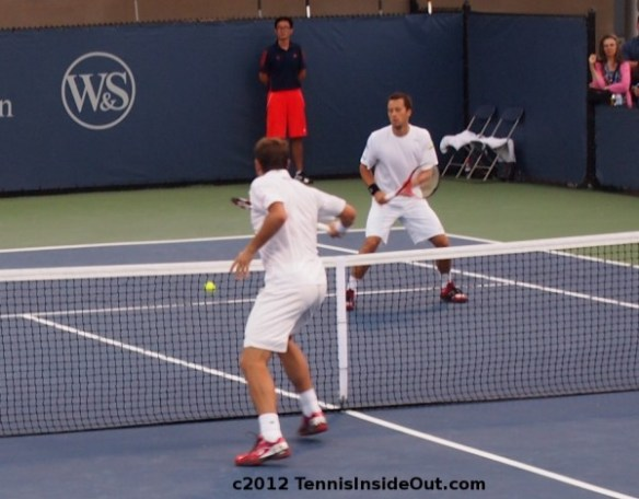 Stan Wawrinka net volley backhand gorgeous doubles Cincinnati pictures photos