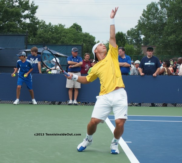 Rycka Berankis Ricardas serve arch yellow white pictures photos images Cincinnati Open