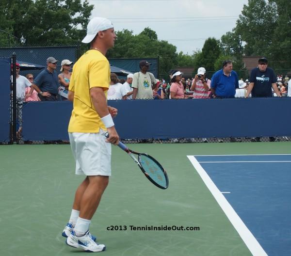 Ricardas Berankis fist pump fistpump Cincinnati Open Western and Southern qualies match 2013 clenched
