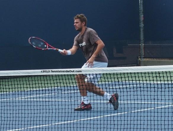Stan Wawrinka volley photos Yonex racquet good hands