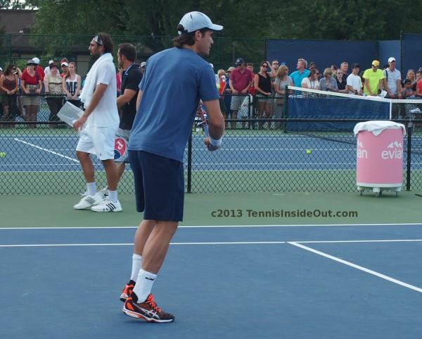 Tommy Haas Marcos Baghdatis Cincy practice pics