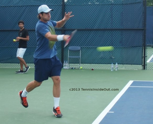 Tommy Haas forehand striking tennis ball Cincinnati photos images pictures 2013