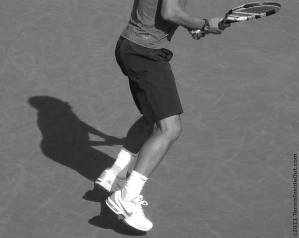 Rafael Rafa Nadal bounce black and white photos by Valerie David Cincinnati Open 2011 racquet shadow pictures images sexy ass arse butt bum