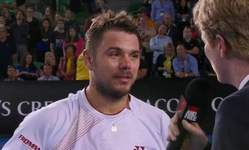 Stanislas Wawrinka post match interview Tommy Robredo match not impressed expression