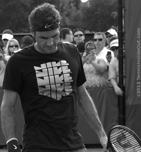 Beautiful Federer black and white old school photos handsome face Nike t-shirt sexy pose curls images photos Cincy tennis Western and Southern Open 2013