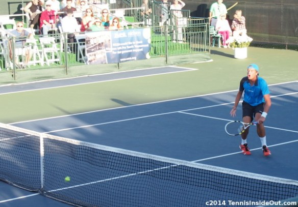 Martin Mary Redlicki despair over a netted shot photo Nielsen tennis championships Winnetka challenger photos