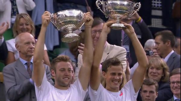 Jack Sock Vasek Pospisil American Canadian tennis doubles Wimby trophy win