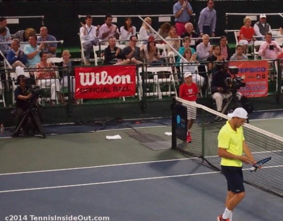 Winnetka challenger posh crowd 2014 A C Nielsen tennis club championships photos