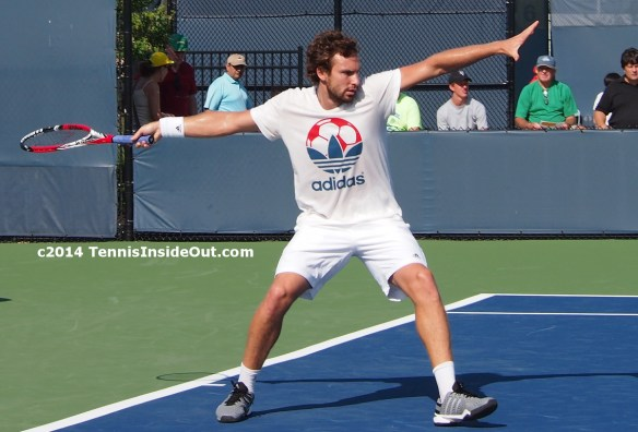 Ernests Gulbis flying forehand