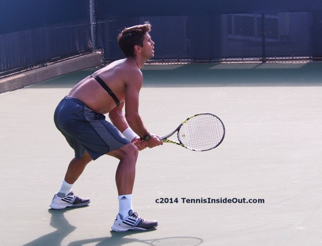 Fernando Verdasco Cincinnati practice heart monitor shirtless photos