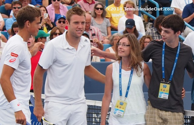 Vashy Pospisil Popsicle fans Grandstand Court coin toss