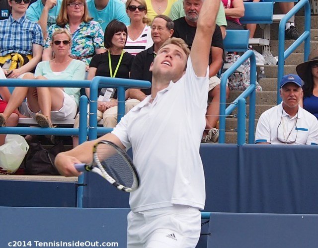Jack Sock pretty face service motion photos