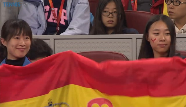 Happy Rafans Spanish flag Beijing