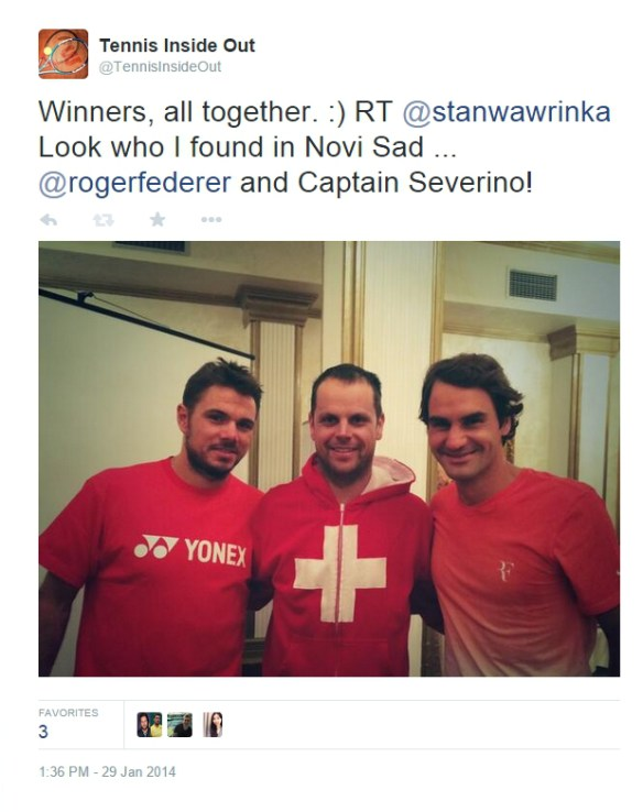 Stan Wawrinka Severin Luthi Roger Federer Davis Cup Serbia