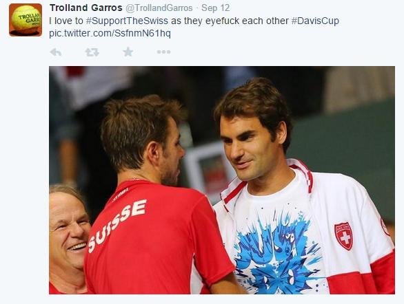 Stan Wawrinka Roger Federer sexy stare Davis Cup Italy Geneva 2014