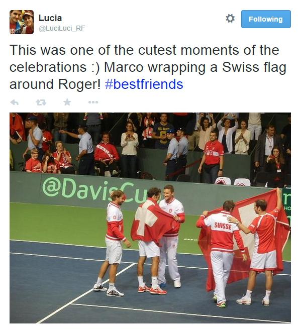 Davis Cup Team Swiss flag pics photos Geneva 2014 Italy