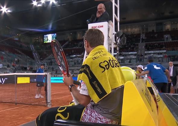Stan Wawrinka argument umpire Fergus Madrid