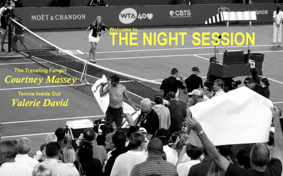 The Night Session Webcast Valerie David Courtney Massey Rafael Nadal Rafa shirtless shirt change Cincinnati Masters 2014 towel Western and Southern Open pics photos images pictures