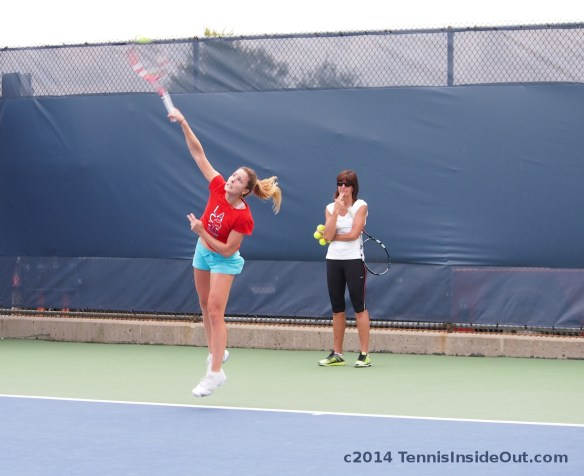 Cincinnati Premier tennis leaping serve Cornet Alize short shorts