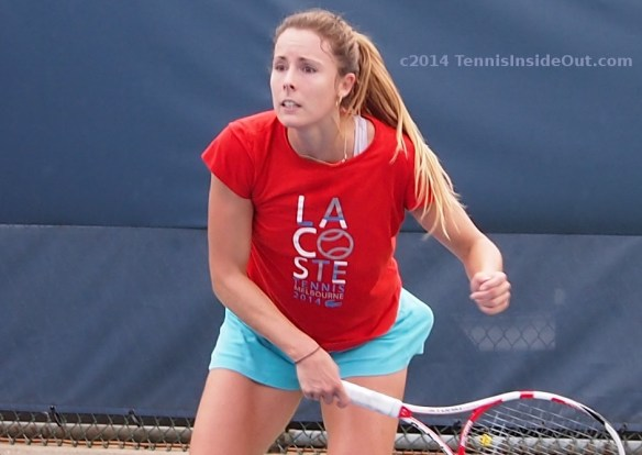 Anguished look panic upset Alize Cornet emotional French player Cincinnati Premier 5 event photos pics images