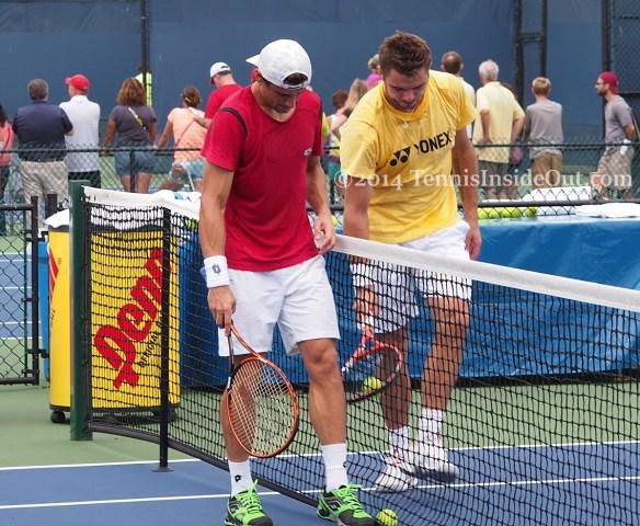 David Ferrer Western and Southern Open Stan Wawrinka practice