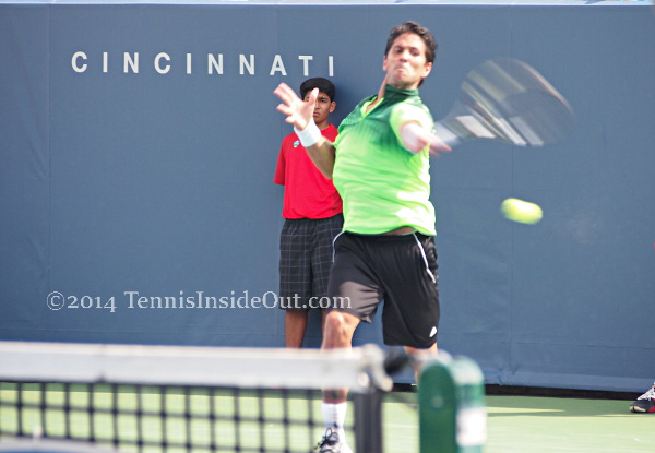 Cincinnati Masters tennis Fernando Verdasco forehand winner match point