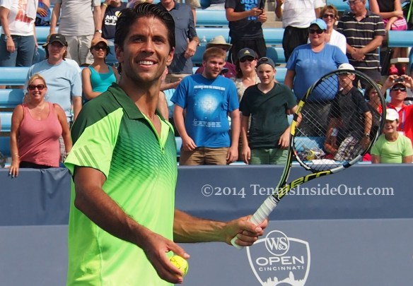 Pretty Nando tennis ball Verdasco grin