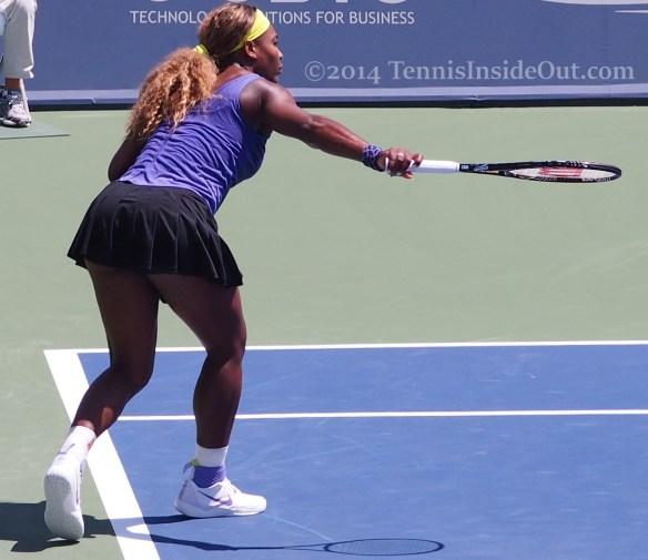 Sexy Serena ass cheeks backhand slice tennis