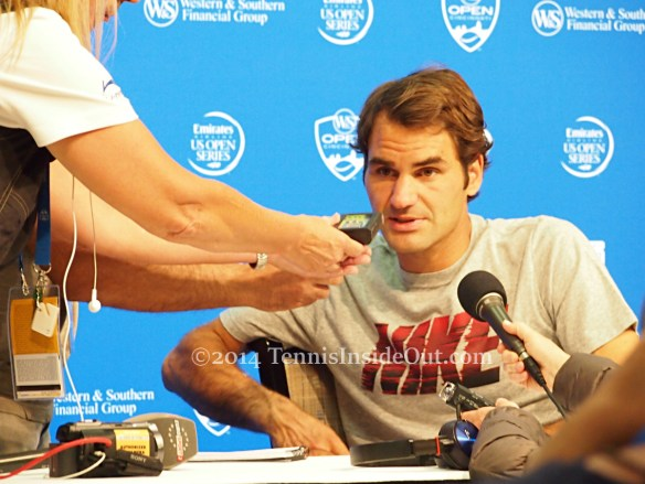 Roger Federer press conference Cincinnati 2014 pics photos