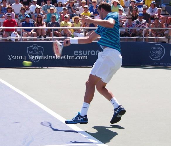 Cincinnati tennis 2014 white see through shorts sheer cute ass forehand shot