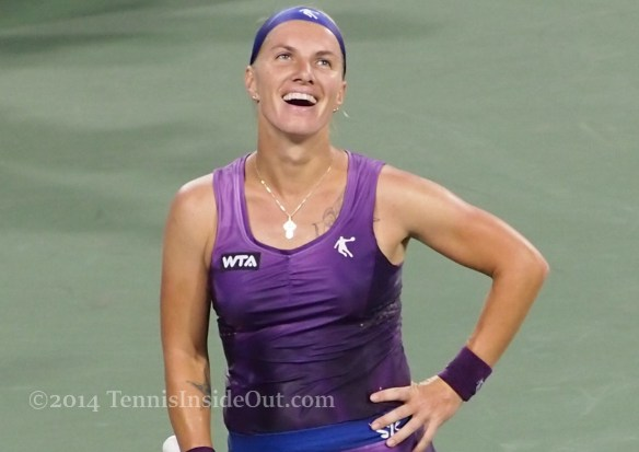 Svetlana Kuznetsova laugh grin smile Cincinnati 2014