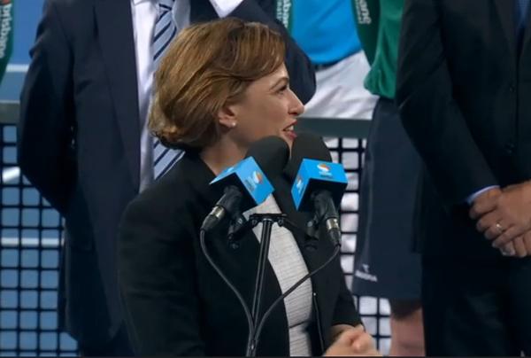 Premier Jackie Brisbane speech Roger Federer