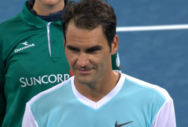 Roger Federer sexy stare dark eyes blue Nike shirt photos pics images