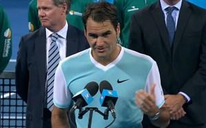 Federer blue shirt