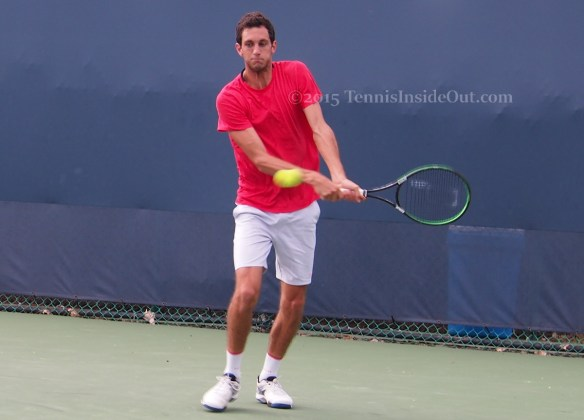 James Ward practice session Western and Southern Open tennis