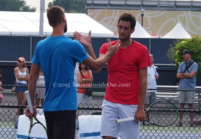 Paire Ward going in the for the handshake workout hit 2015