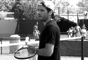 Close-up gorgeous Tommy Haas German tennis player Cincy courts