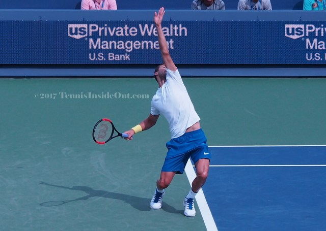 Cincinnati Masters serve final championships arching back pics